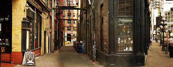 A stitched panorama in a city can make a great scene!