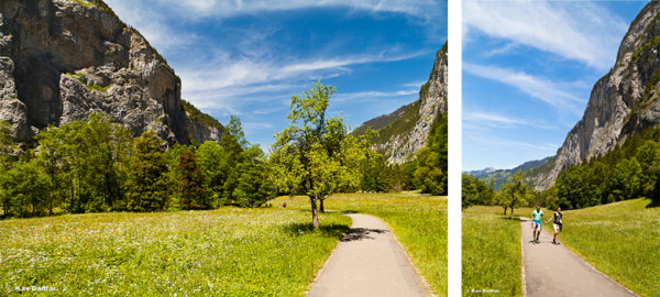 The shot on the left is nice but too generic. The shot on the right taken after waiting for a while tells a much better story.