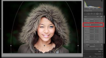 Portrait processing in Lightroom