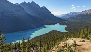 The magnificent Peyto Lake in the Canadian Rockies, made with the 24-70mm lens
