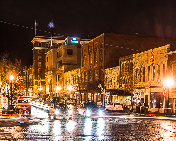 If you are looking to take long exposure night shots like this 10 second exposure of downtown Marietta, Ohio, you'll need a quality tripod to give your camera a stable base.