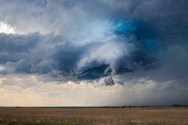 An image of a rotating wall cloud from the storm I described in the paragraph above. This was actually my first storm to ever photograph.