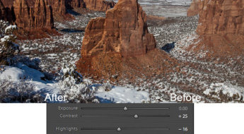 Colorado National Monument photo with Lightroom adjustments