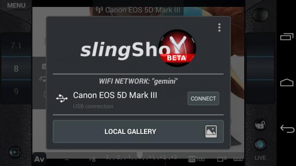 slingShot Remote DSLR Controller