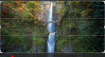 Drag Photoshops crop tool to place your crop