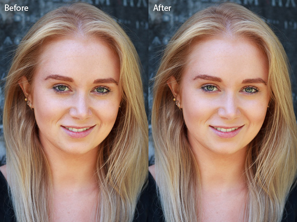 how to retouch a portrait with the adjustment brush in