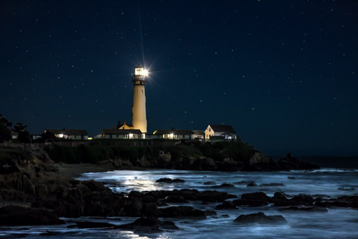 Proper Exposure at Night - Pigeon Point example