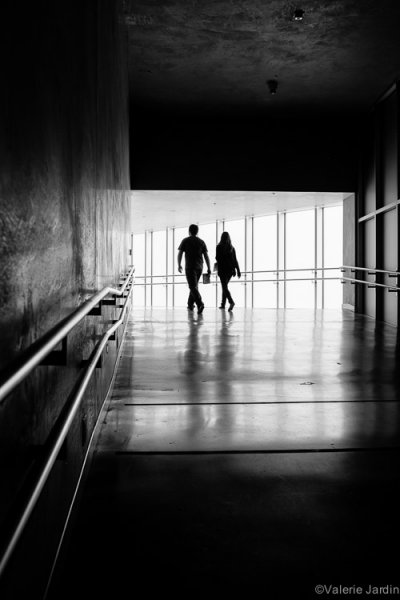 Capturing the right gesture or step is a key element in a successful silhouette in street photography.