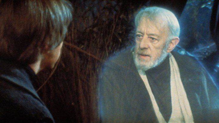 Luke Skywalker and Obi-Wan Kenobi discussing the importance of perspective.