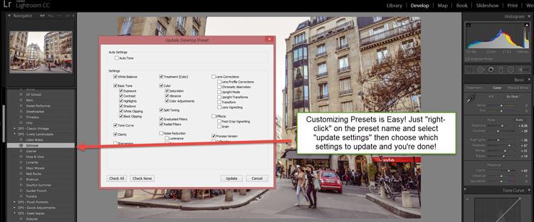 DPS Customize Presets 750