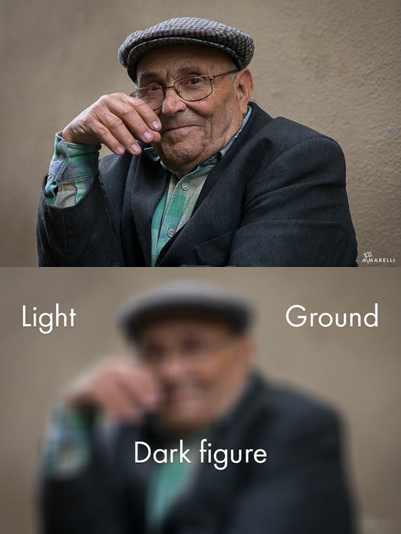 2 Dark figure on a light ground