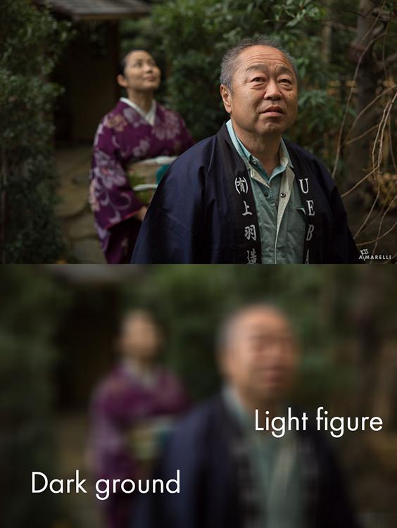 6 Light figure on a dark ground