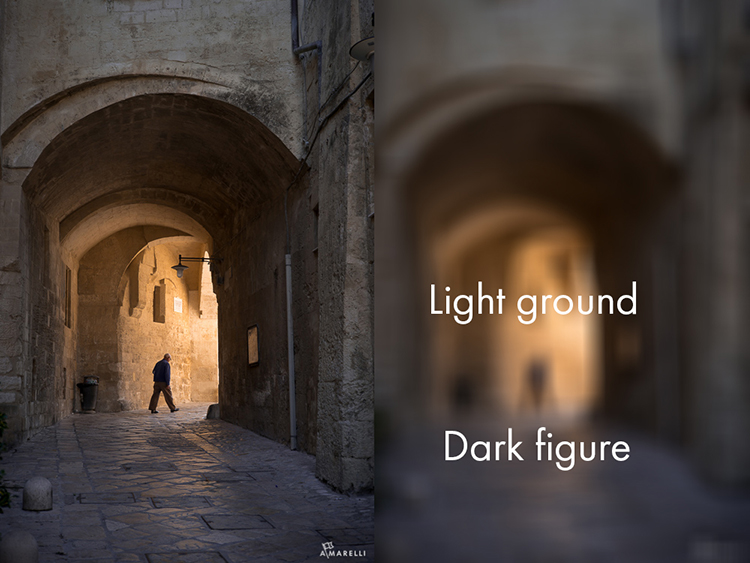 7 Dark figure on a light ground