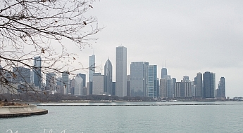 Memorable Jaunts Urban Photography Article for DPS Chicago City Skyline on a cloudy day