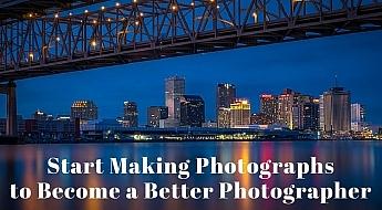 start making photographs