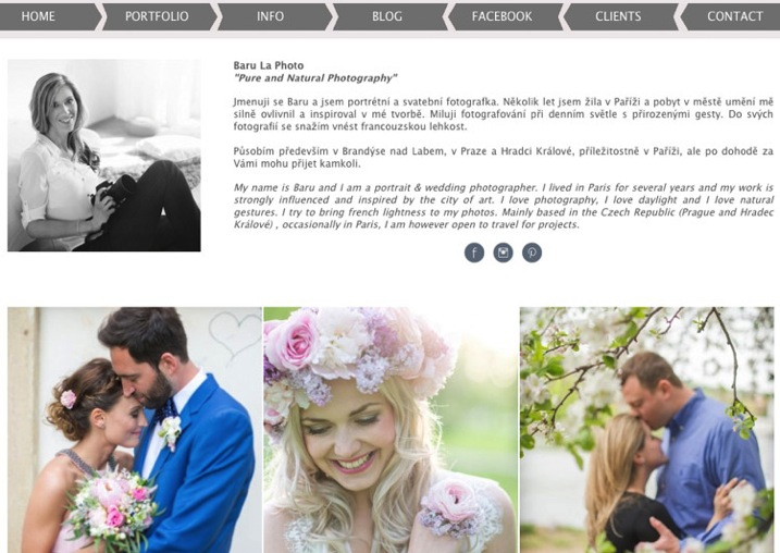 4 example of good website two language versions including English www barulaphoto com