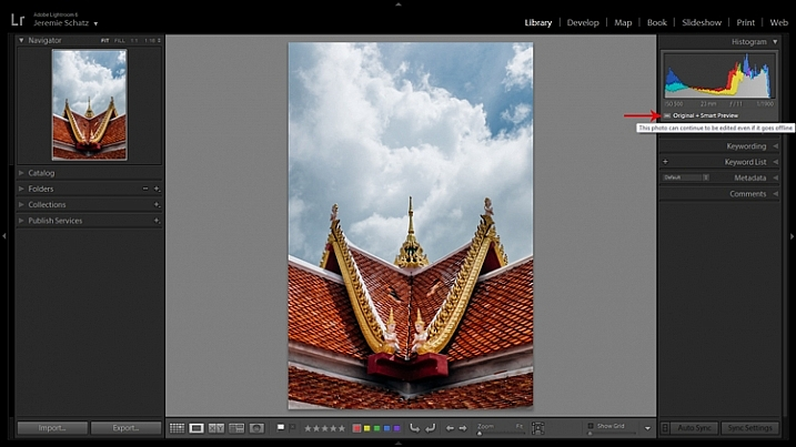 Lightroom's Smart Preview feature