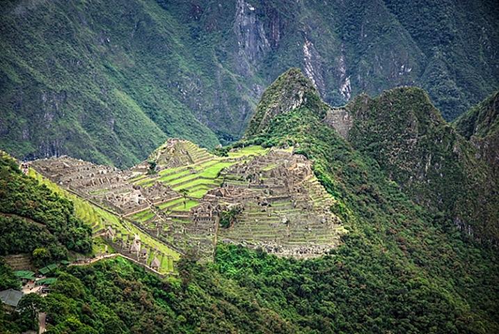 A different vista of Machu Picchu.