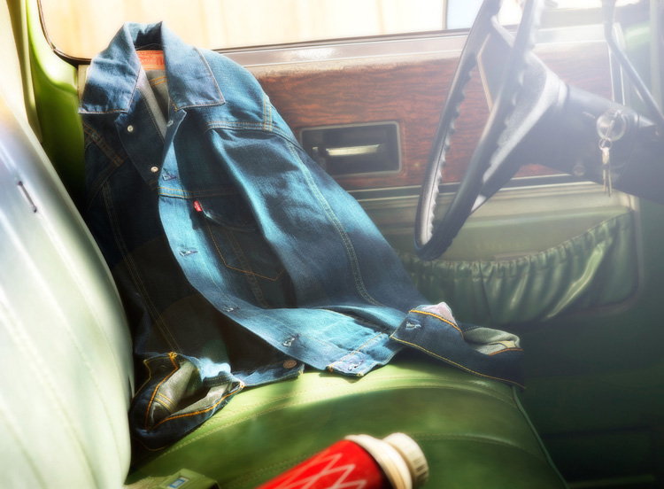 Hard light example levis jacket studio 3