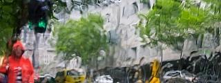 Melbourne Australia in the rain