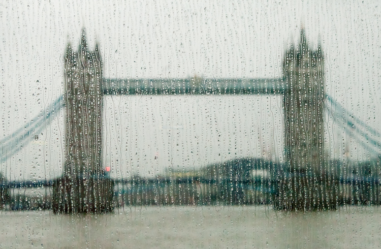 Tower Bridge London in the rain