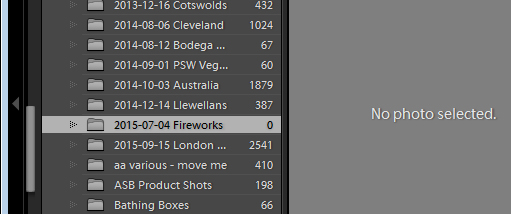 Is an empty folder in Lightroom really empty?