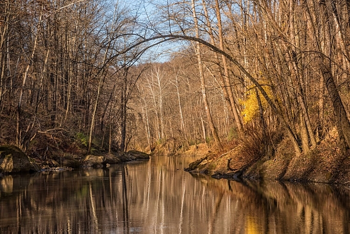 On a fall Photowalk along a river was a great locations for reflections