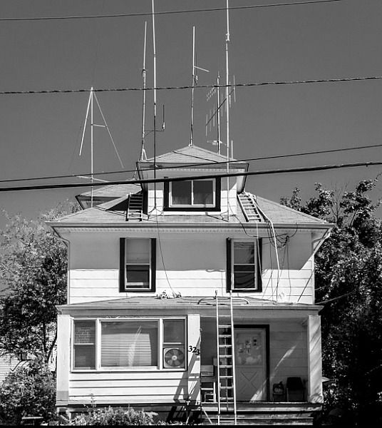 Ham Radio Operator's House, New Jersey by Neil Persh