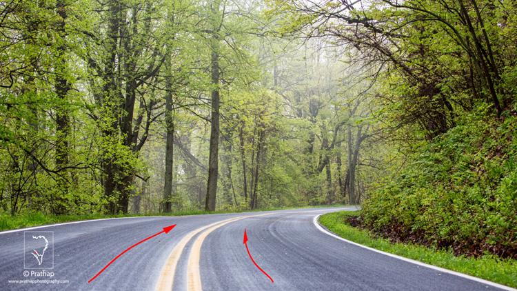 07 Leading Lines Composition Techniques Landscape Photography by Prathap Blue ridge Parkway