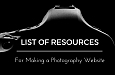 Resources for Making a Photography Website