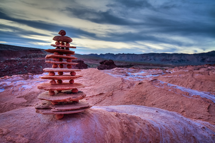 Balancing Rocks at Little Finland, Nevada by Anne McKinnell