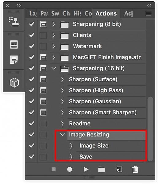 Bulk edits image resizing