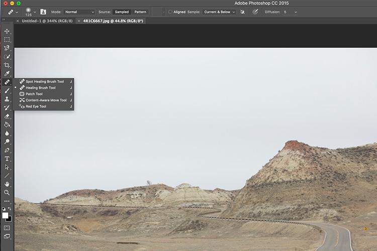 Memorable Jaunts Landscape Image cleaned using healing brush tools Artcile for DPS 05