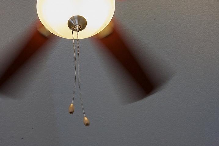Practice shutter speed using a ceiling fan/