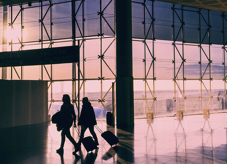 Again, looking for clean shapes to create a striking silhouette in an airport.