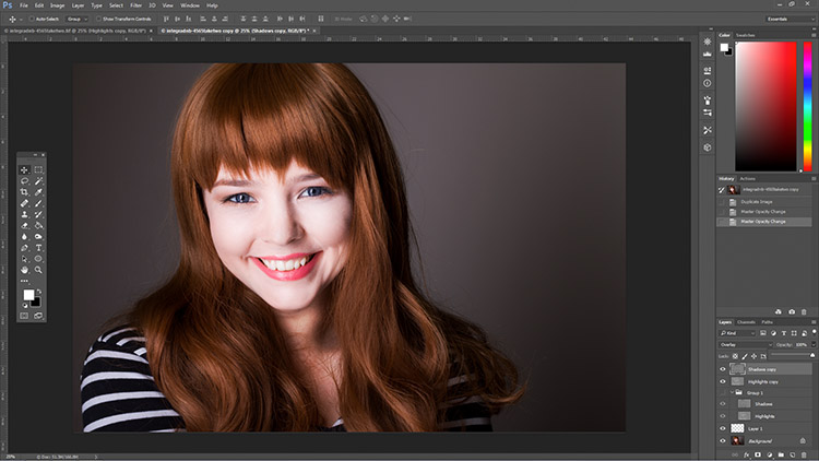 How to Enhance Portraits Using Gray Layers to Dodge and Burn in Photoshop 5