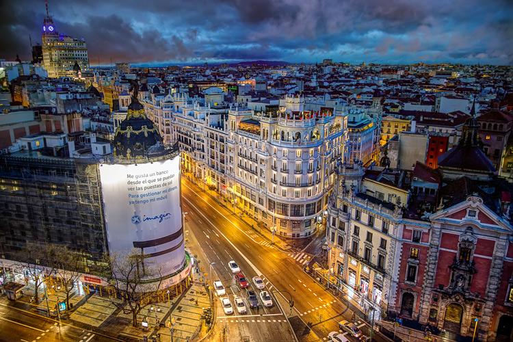 Madrid, Spain, from the Circulo des Bellas Artes