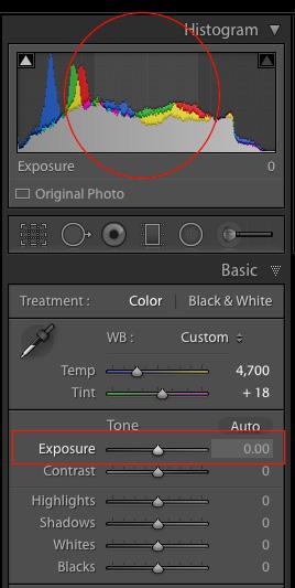 Exposure-slider