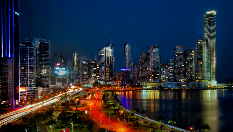 Panama City, Panama from the Intercontinental Hotel (shot through glass)