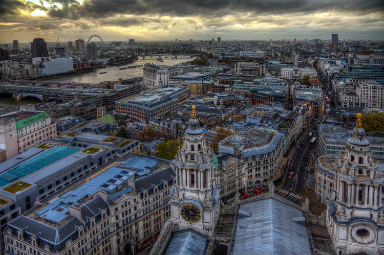 London from the top of St. Paul's Cathedral