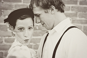 An image from a styled session with a 1940's theme.