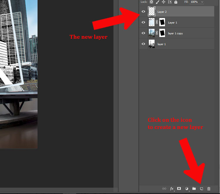 How to Make a Sketch inside a Photograph - new layer