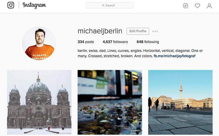 Instagram Stream with photo from Lightroom