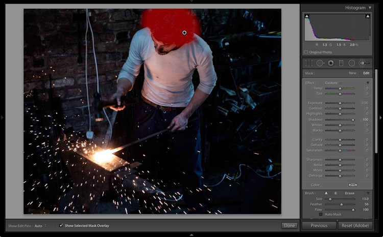 Lightroom processing