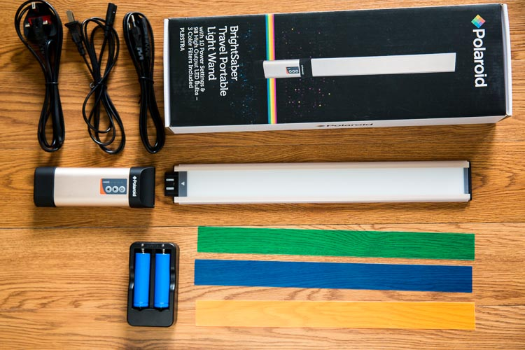First Look Polaroid Brightsaber Travel Led Wand