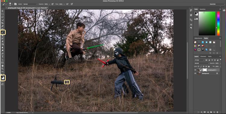 21 Jumping Jedi brush away