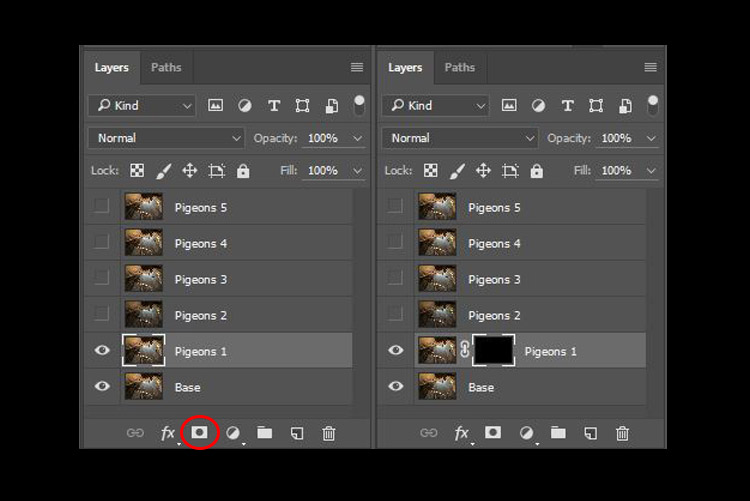 digital blending layer mask